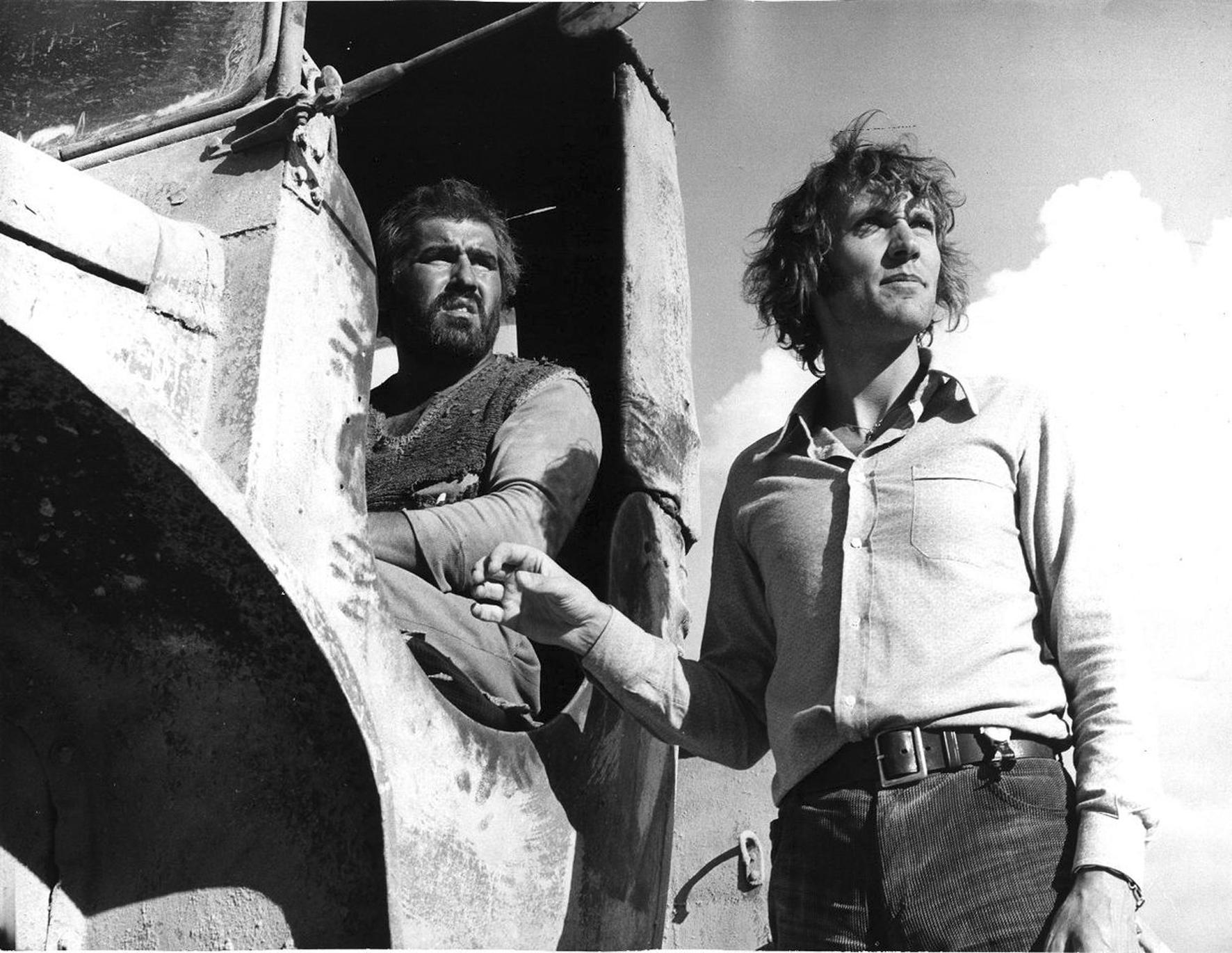 mario-adorf-und-roland-klick-bei-den-dreharbeiten-zu-deadlock-1970-filmgalerie-451